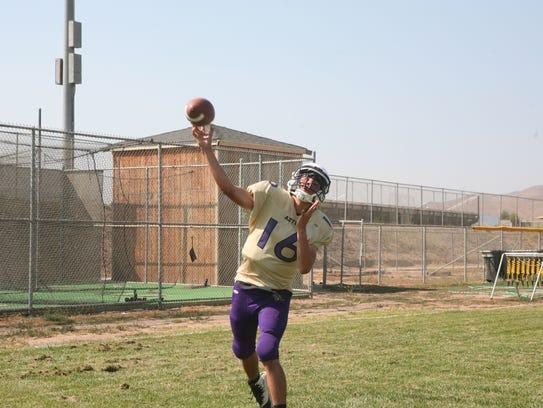 Soledad quarterback Gabriel Florez is looking to help