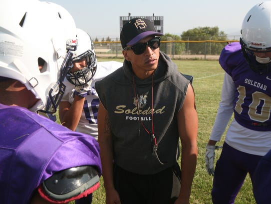Soledad head coach Frankie Berlanga delivered a section