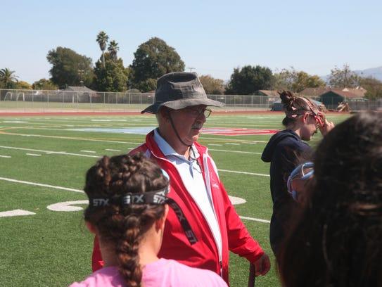 North Salinas field hockey head coach Stanley Marple