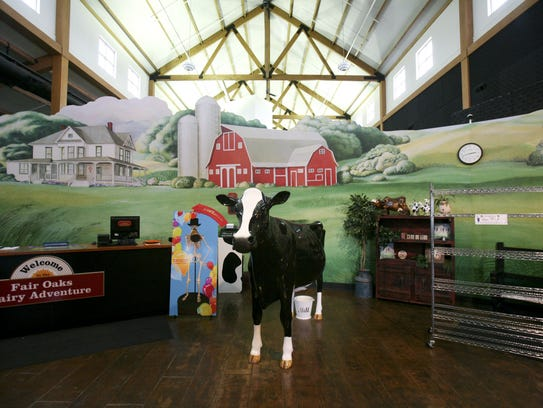The entrance to the Dairy Adventure at Fair Oaks Farms