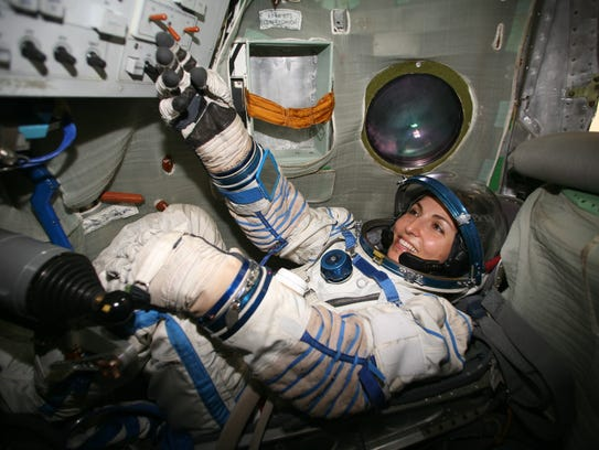 Anousheh Ansari in training for her trip to space.