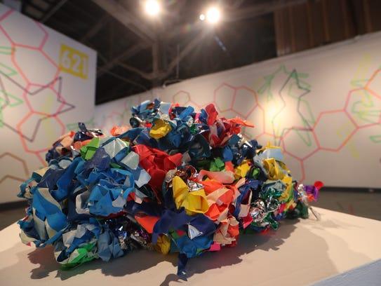 A piece entitled #LineShapeColor by artist Patrick