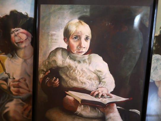 Tallahassee artist Stuart Riordan's work at her home