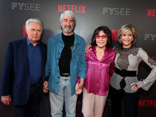 'Grace and Frankie stars Martin Sheen, left, Sam Waterston,