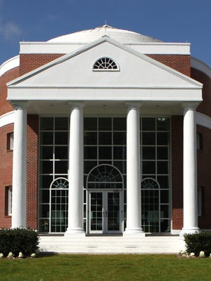 The iconic rotunda sits on the east side of FSU's College of Law.
