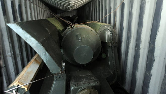 View of what seems to be weapon parts aboard the North Korean Chong Chon Gang vessel, at the Manzanillo Port in Colon, Panama on July 17, 2013.