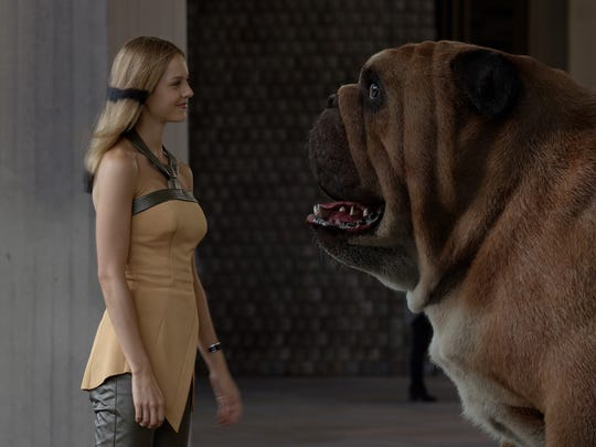 Isabelle Cornish as Crystal and Lockjaw.