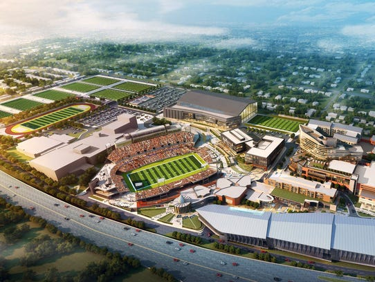 The new Pro Football Hall of Fame, being constructed
