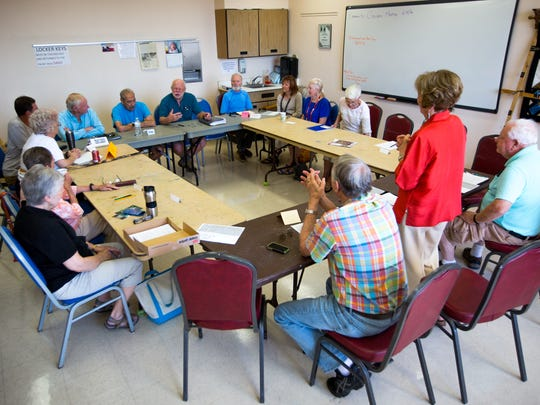 Members of the Desert Writers group discuss their craft