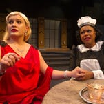 Emma Harr, left, and Hillary Lewis star in 'By the Way, Meet Vera Stark,' which will be presented through Sunday at the University of Southern Mississippi. Lynn Nottage's play explores stereotypes and typecasting through the story of a maid who hopes to become an actress in Hollywood in the 1930s.