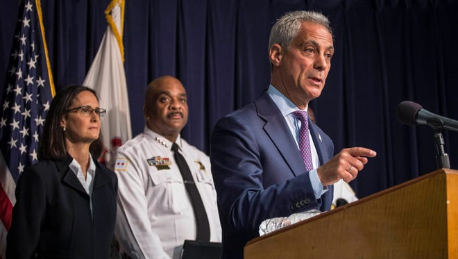 Chicago Mayor Rahm Emanuel is praising billionaire Ken Griffin for donating $10 million to help bolster a joint effort by the Chicago Police Department and the University of Chicago Crime Lab to use data to try to slow the city's violent crime.