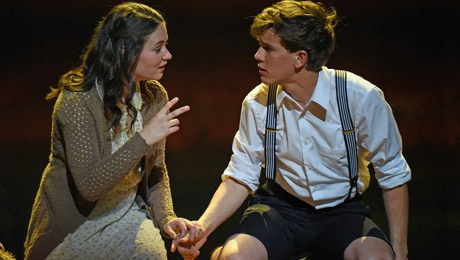 "Sandra Mae Frank with Austin McKenzie in Deaf West Theatre's ""Spring Awakening"" that is set to open on Broadway."