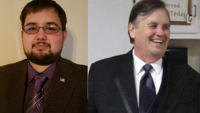 Photos submitted by Benjamin Holcomb, left, and Vincent Jennings, both of whom say they are running for Congress in Missouri's 7th District.