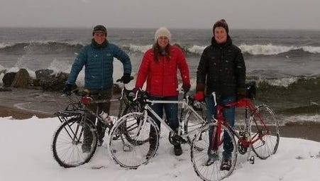 Northern Michigan University students Dylan Gonda, Ryan Watling and Olivia Walcott plan to ride around Lake Superior in 17 days gathering research and stories.