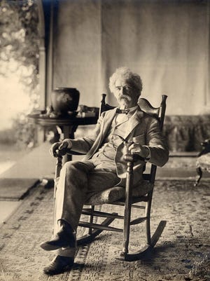 Samuel Clemens often gathered with his family at Quarry Farm. Twain is shown there in 1903.