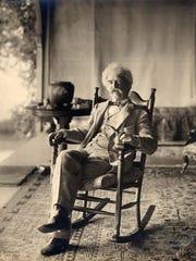 Samuel Clemens, aka Mark Twain, often gathered with