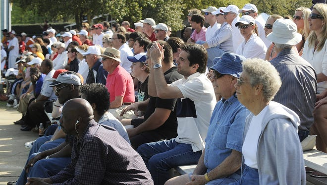 Crowds watch the finals of the Blue Gray Tennis Classic at Lagoon Park in Montgomery, Ala. on Sunday March 22, 2009.(Montgomery Advertiser, Mickey Welsh)