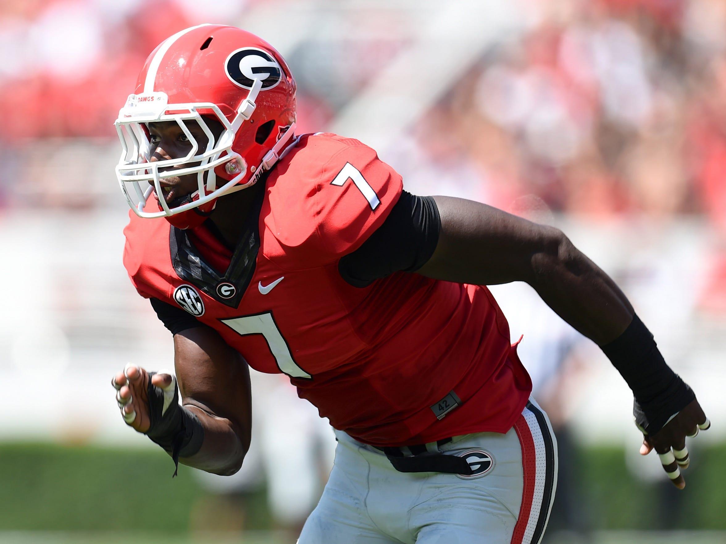 Georgia outside linebacker Lorenzo Carter