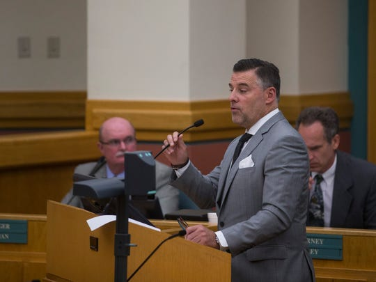 Sean Strawbridge, Chief Executive Officer for the Port of Corpus Christi, speaks during the city council meeting on Tuesday, June 19, 2018 at Corpus Christi City Hall.