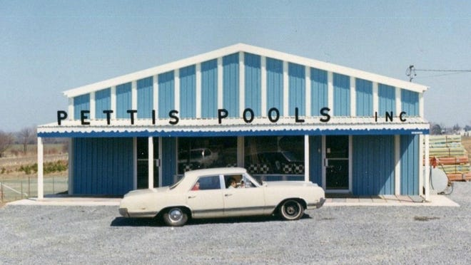This 1968 photo shows the first Pettis Pools store.