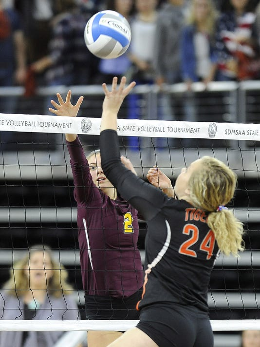 Huron - Harrisburg - State Volleyball - Denny Sanford Premier Center