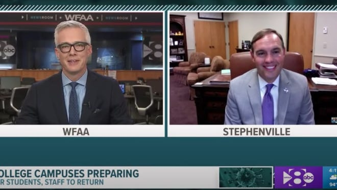 WFAA interviewed Tarleton State University President Dr. James Hurley to ask how the university is preparing to welcome students back in the fall.