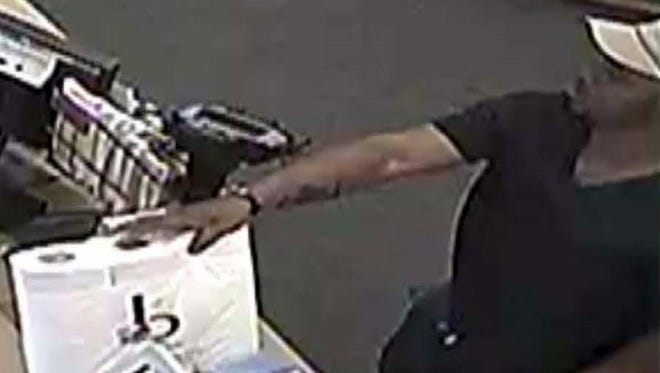 Police are looking for this man who allegedly tried passed counterfeit $100 bills at Katonah businesses.