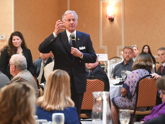 Gov. Henry McMaster speaks during an Anderson Area