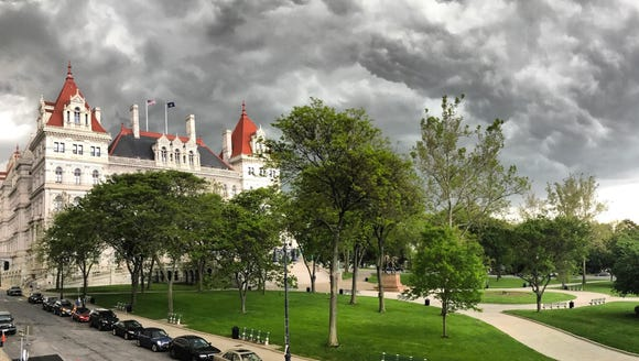 The New York State Capitol building in Albany on May
