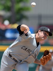 South Carolina pitcher Wil Crowe (37) pitches against Campbell during the Columbia Regional of the NCAA Tournament Sunday, June 1, 2014 at Carolina Stadium in Columbia.