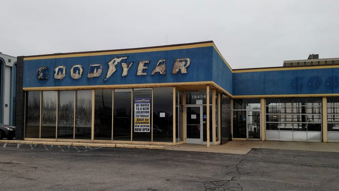 The former Goodyear shop on Middlebelt, north of Seven Mile. This shop closed after the one on Middlebelt, south of I-96, opened a few weeks ago.