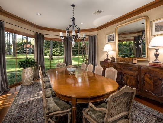 The dining room at 636 Lake Forbing Drive.
