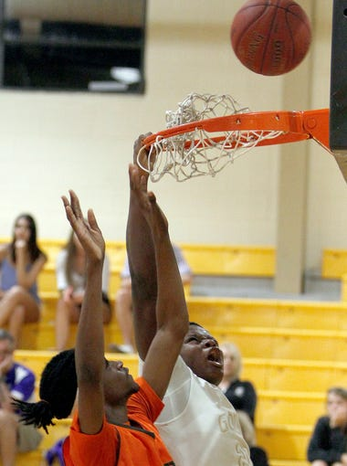Dunbar's Chris Sutherland tries to stop Golden Gate's