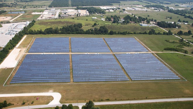 This solar farm began producing energy June 26. It is on property owned by City Utilities.