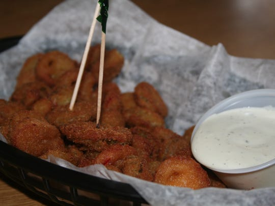 Bottle caps - fried jalapenos - at Stagecoach Inn in Marshall