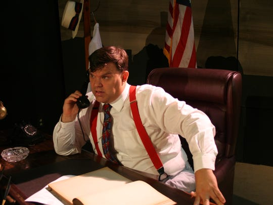"""Aren Chaisson, who plays Huey Long in """"The Kingfish,"""""""