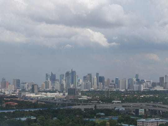 Manila's skyline is full of skyscrapers. In the midst
