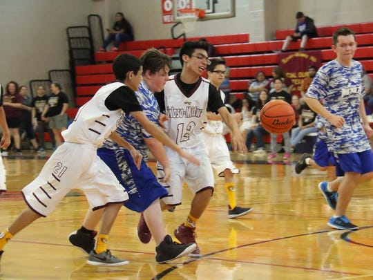 Players from Tuloso-Midway and Ingleside compete in
