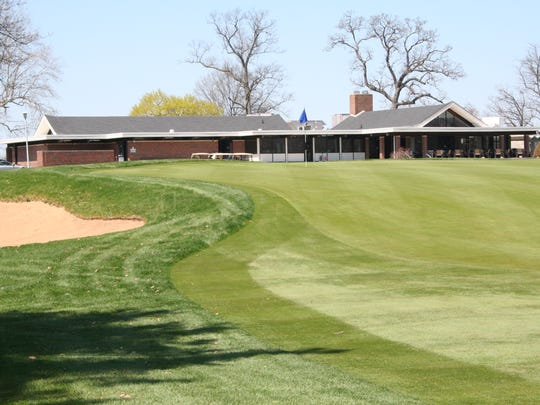 The finishing hole at the Battle Creek Country Club