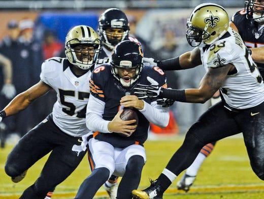 Saints pummel Jay Cutler, Bears for NFC South lead