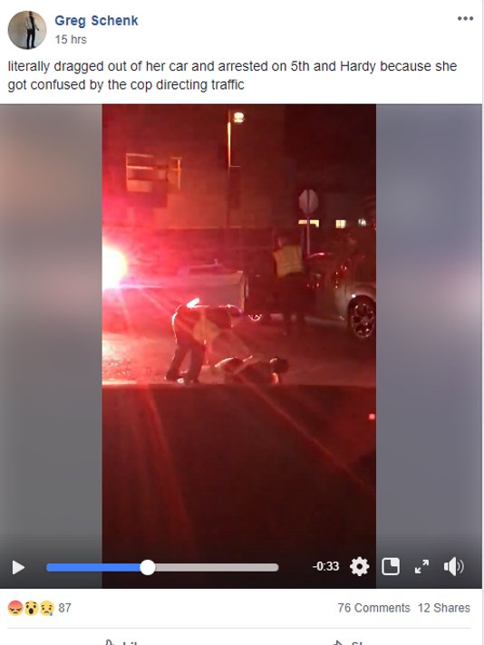 Tempe police drag woman