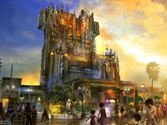 A concept art for Guardians of the Galaxy: Mission