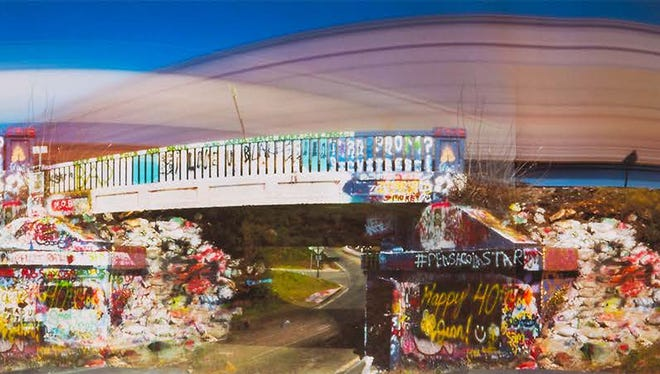 PSC Visual Arts student Karl Evertz's image of Pensacola's Graffiti Bridge is among the works on display at the 50th Anniversary Art Students Honors Exhibition at the PSC Switzer Gallery.