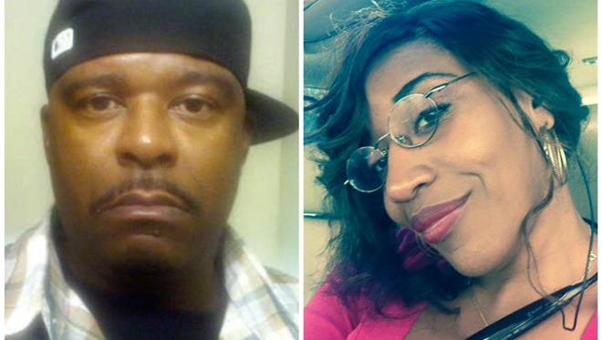 Demetrius McCollum, left, is wanted on multiple fraud related warrants associated with the fraud case involving Angela Darlene Brown of Jones County.