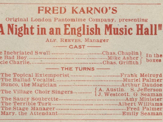 A playbill for the Empress Theater in Cincinnati, for