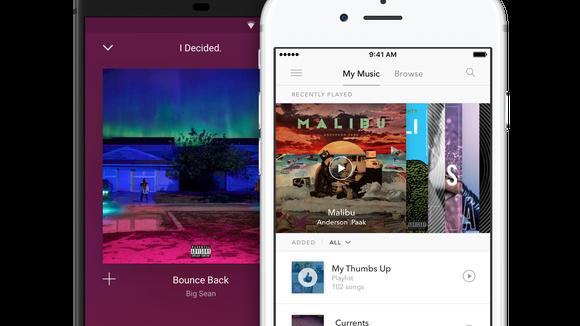 Pandora music app on smartphones.