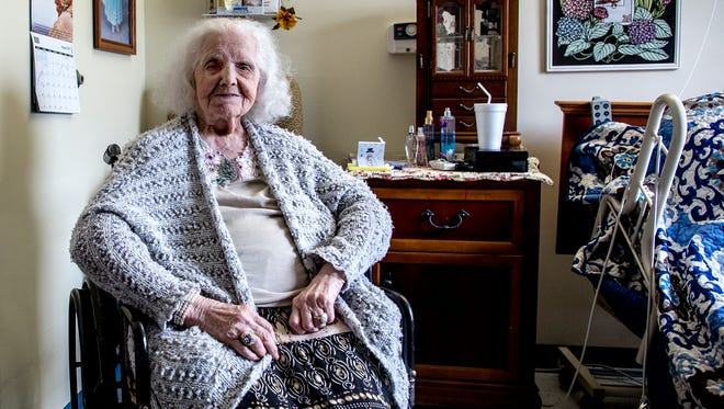 Miriam Grubaugh celebrated her 100th birthday Sunday with family friends. Grubaugh credits her long life to always staying busy, whether cooking and baking, shopping or helping others.