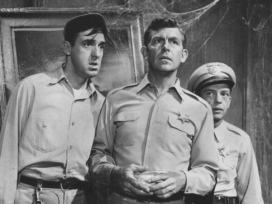 Jim Nabors, Andy Griffith and Don Knotts appear in