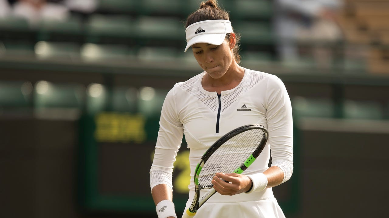 Venus Williams (USA) celebrates match point  against Maria Sakkari (GRE)  during Wimbledon on June 30.