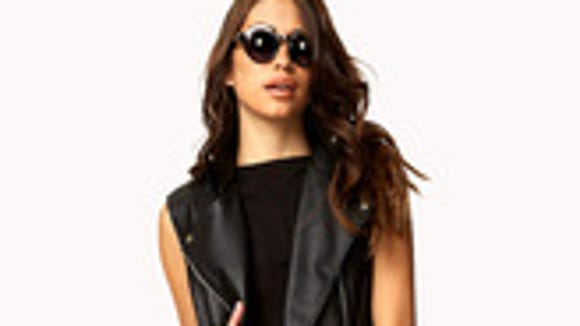 Biker vests are a hot fashion item this fall.